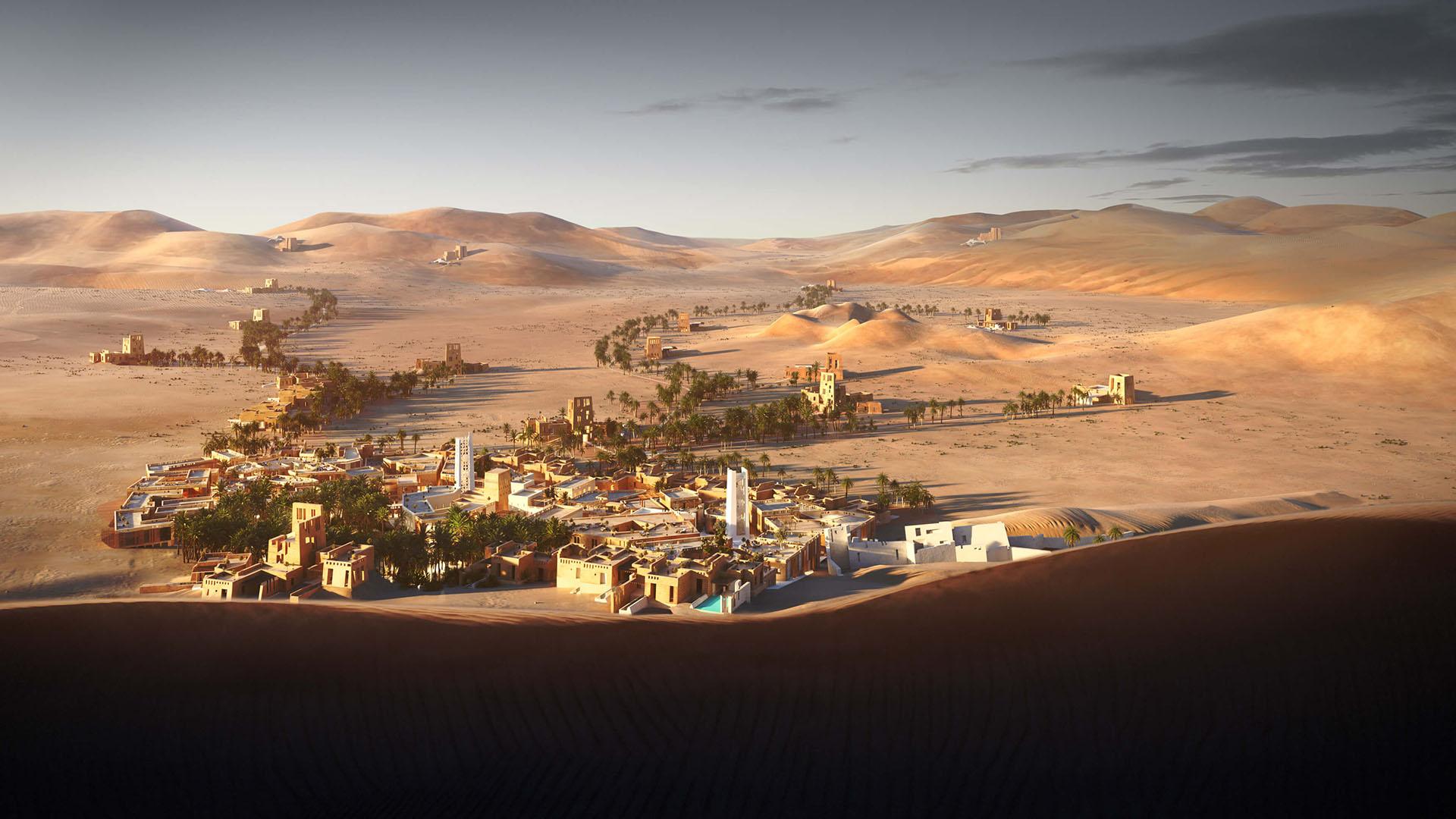 Hyperreal ArchViz Desert Resort